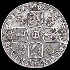 More details for george i, 1714-27. sixpence, 1717. roses and plumes in angles. scarce.