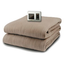 Biddeford MicroPlush Twin Electric Blanket with Controller, Taupe