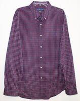 Polo Ralph Lauren Mens Red Blue Plaid Slim Fit Button-Front Shirt NWT 2XL XXL