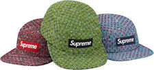 SUPREME Bright Tweed Camp Cap Green Box Logo camp floral safari garçon F/W 12