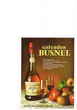 PUBLICITE ADVERTISING   1979   BUSNEL  calvados digestif vieille reserve