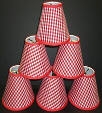 Set 6 Chandelier Shade Gingham Blue Green Pink Purple Red Yellow Handmade