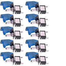 10 X DIY 12V 20A Blue Cover LED Light Rocker Toggle Switch SPST ON/OFF Car Motor