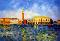 Renoir The Doges Palace, Venice Repro. Hand Painted Oil Painting 24x36in