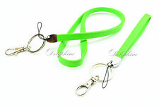 Leather Necklace Lanyard and Wristlet Lanyard with Key chain for ID Badge Holder