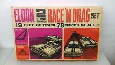 1:32 Vintage 1967 Eldon 2 In 1 Race N Drag Set Charger & Mustang Complete MIB