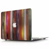 "Rainbow Wood Matte Hard Case Shell for Apple MacBook Air Pro 13'' 13.3"" Retina"
