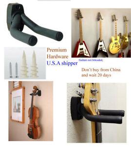 Pack of 2/3/4 Guitar Hanger Hook Holder Wall Mount Display Acoustic US Stock