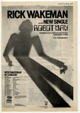 "RICK WAKEMAN (YES) Robot Man 1981 UK Poster size Press ADVERT 16x12"""