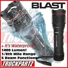 Nebo Blast 1400+ Lumen LED 5 Mode Flashlight/Strobe Beacon. Waterproof! NEW!