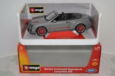 Burago 1/18 Bentley Continental Supersports Convertible ISR. Réf. 18-11035GY.