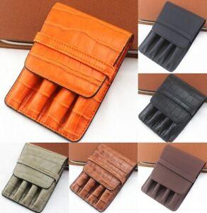 Handmade Leather Pen Case Fountain Sleeve Bag Vintage Style Pouch Pencil Bag