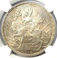 1913 Mexico Peso 1P Coin - Certified NGC Uncirculated Details (UNC MS)