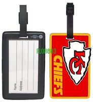 Kansas City Chiefs NFL Soft Luggage Bag Tags /Gym bag / Golf bag