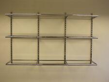 Begehbarer Kleiderschrank Rückwandsystem Grund-set LC10, 13-teilig, 3 Felder
