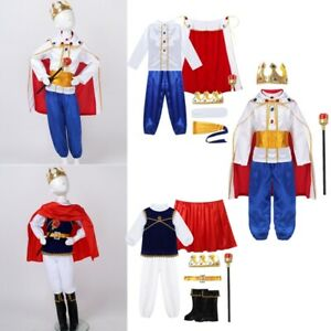 Young Girls Boys Halloween Cosplay Outfits Dress Up Party Child Costumes Suit