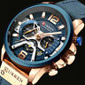 Curren Mens PU Leather Band Strap Wristwatch Sports Military Quartz Watch