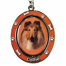 "COLLIE [Rough Coat] ""Spinning"" Key Chain"