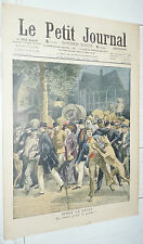 PETIT JOURNAL 1909 RAFLE EN ROUTE POUR LE POSTE ! / LION EN AUTOMOBILE