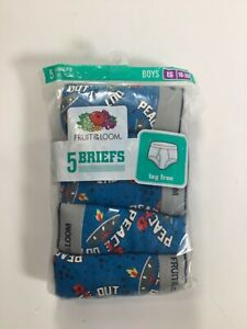 Boys Fruit Of The Loom Blue Alien Boxer Briefs Size 18-20/5 pack NEW!