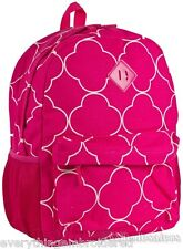 """Personalized Backpack Book Bag Pink Geometric Pattern Initial(s) NameFree 16x12"""""""