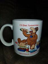 "VINTAGE 1987 ALF ALIEN PRODUCTIONS COFFEE MUG ""I'LL DIET TOMORROW RUSS Berries"