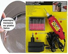 Penna Incisione per vetro, metallo, plastico ecc Varie punte. Kit completo