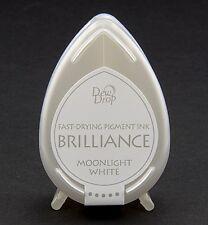 Stempelkissen Tinte DewDrop Brilliance moonlight white weiß Mini Tsukineko BD080