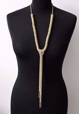 OLIA Gold Colour Long Multilayer Chain Necklace Jewellery Nickel Free