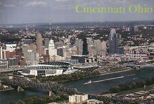 Cincinnati Ohio, NFL Football Stadium Bengals, MLB Reds Baseball etc - Postcard