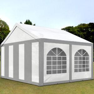 Tendone per feste 3x4m, Gazebo PE circa 240 g/m²,bianco-grigio