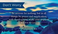 Pass Along Scripture Cards, Don't Worry, Be Anxious Phil 4:6, Pack 25