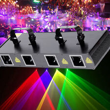 4 Lens 4 Beam RGPY DJ Disco Laser Light Stage Party Show DMX 7CH 460mW UK Plug