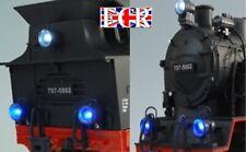 6 x LED LOCO LIGHTS G SCALE 45mm Gauge RC NQD RAILWAY TRAIN BLUE & WHITE LITES