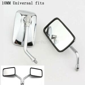 Chrome Rectangle Mirrors for Suzuki Intruder Volusia VS VL 700 750 800 1400 1500