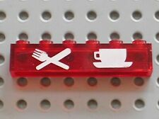 LEGO lighting Brick with CAFE RESTAURANT Pattern ref 3067px3 / Set 816