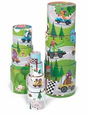 Janod Vehicle Round Stacking Pyramid - Children's Stacking Cups Car Toy