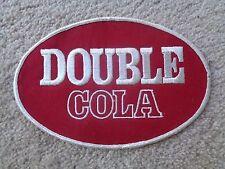 DOUBLE COLA OVAL PATCH - NOS - Original - Vintage 7 1/2 X 5 1/8 SODA COLLECTIBLE