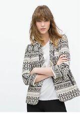 Brand New Zara Aztec Jacquard Pattern Fantasy Blazer Jacket Size S