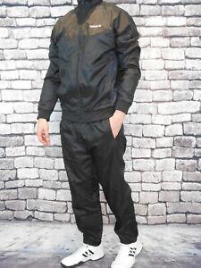 MEDIUM adidas Originals Men's CHALLENGER CLR84 NYLON TRACK SUIT BLACK 90S Retro
