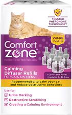 6 Pack Comfort Zone Cat Calming Diffuser Refill Pheromones Stress Relax 48 ml