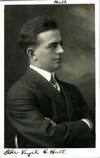 More details for mormon portrait rppc postcard elder virgil c hall hull signed