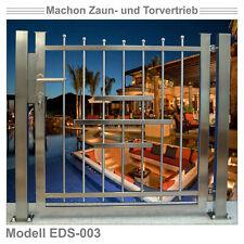 EDS 003 - EDELSTAHL-Pforte, Tür, Zaun, Gartentor, Eisentor, Tor