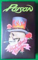 POISON FLESH BLOOD & VIDEOTAPE VIDEO VHS 1991 30 MINS ROCK ROLL GLAM HAIR METAL