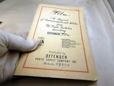 Defender Photographic Film Product List  guide English 1937