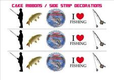 FISHING BIRTHDAY MIX RIBBONS Side Strips Wraparounds