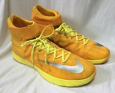 NIKE Zoom HyperRev Hi-Tops Basketball Sneakers Men's sz17.5 Yellow Silver 643301