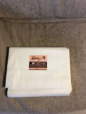 "Lullaby Muslin Sheet Vintage 81""x99"" White Never Used"