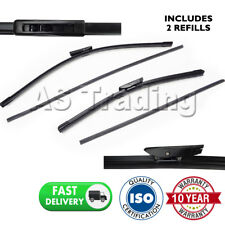 "FRONT WINDSCREEN WIPER BLADES PAIR 24"" + 16"" FOR RENAULT CLIO III 2005-2012"