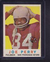 Joe Perry 1959 Topps Football Card # 80 San Francisco 49ers Hall of Famer EX !